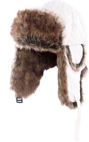 PEARL urban Polarmütze mit Fellfutter, weiß