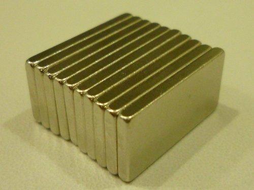 【ノーブランド】角 型 ネオジウム磁石 ネオジム磁石 マグネット 20 × 10 × 2 mm 10個セット