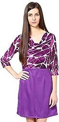 Shibori Women's Dress (Ds1451Py_S, Purple, Small)