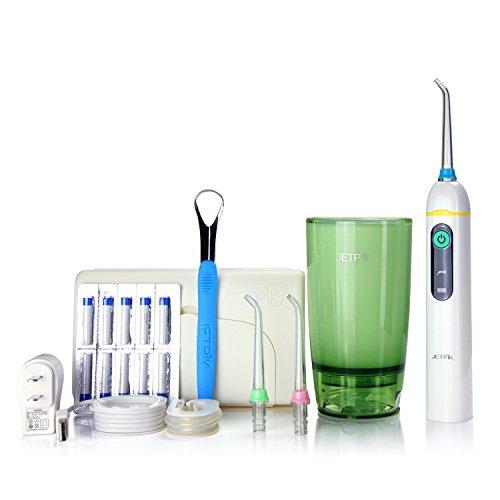 jetpik jp50 elite rechargeable electric dental flosser oral irrigator with pulsating floss. Black Bedroom Furniture Sets. Home Design Ideas