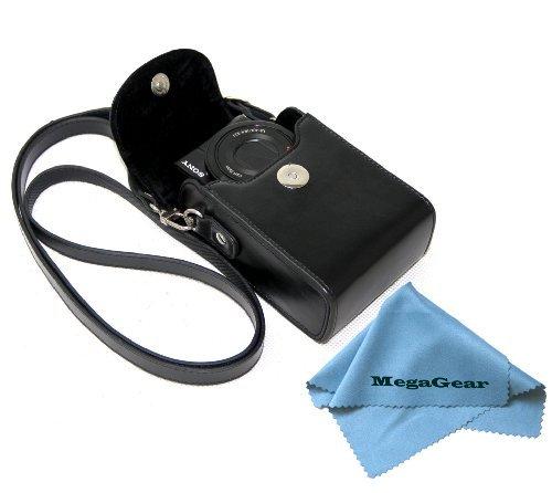 MegaGear Custodia Pelle per Fotocamera Sony, Nero