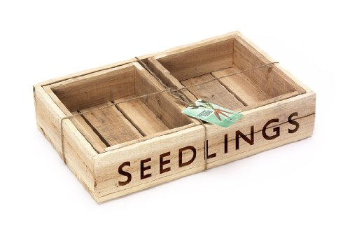 Seed Trays - Set of 3 Traditional Quality Wooden Seedling Trays - Ideal Gardening Gift