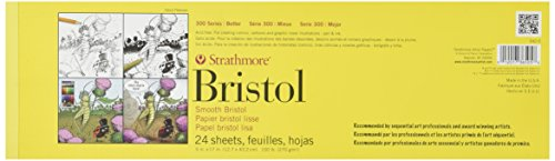 strathmore-str-342-5-24-sheet-smooth-bristol-pad-5-by-17