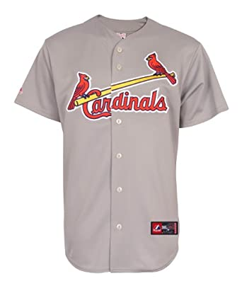 MLB St. Louis Cardinals Away Replica Jersey, Gray by Majestic