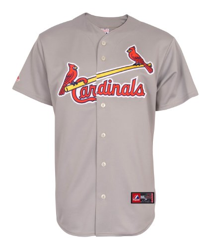 MLB St. Louis Cardinals Away Replica Jersey, Gray, X-Large at Amazon.com