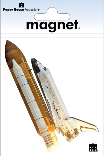 Paper House Productions M-0501E Die Cut Refrigerator Magnet, Space Shuttle (6-Pack) (Space Shuttle Magnet compare prices)