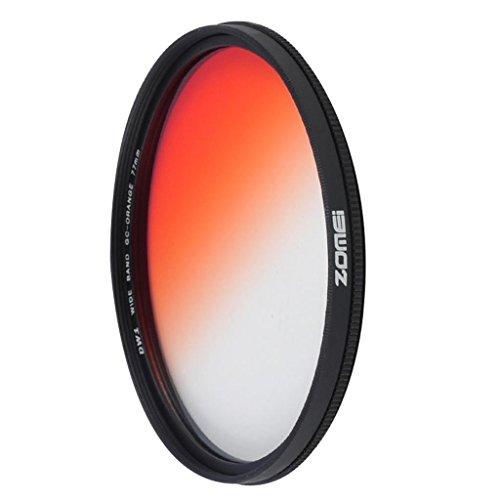 DELLT- Ultra-mince circulaire Gradient orange Objectif 55/58/67/72 / 77mm SLR Filtre Camera Lens ( taille : 55mm )