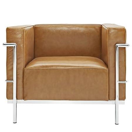 Charles Le Corbusier LC2 Grande Tan Club ArmChair
