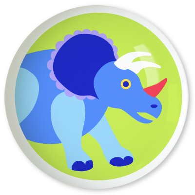 Kids Triceratops Drawer Knob - Dinosaurland Collection (2 Pack) front-918753