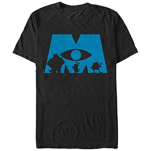 Monsters inc logo silhouette mens graphic t shirt fifth sun for Pixar logo t shirt