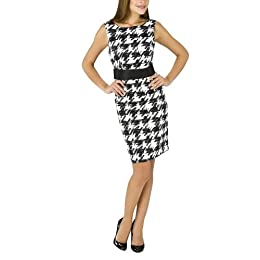 Product Image Target Limited Edition Women's Belted Lady Dress - White Houndstooth