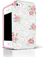 Étui souple et flexible en TPUR de série AKNA Glamour pour iPhone 4 4S [English Flower]