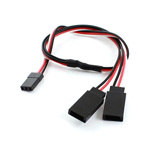 30cm 3 Pin JST Male to Female Y Servo Extension Wire for RC Helicopter - 1