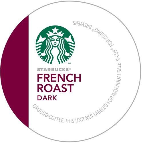 Starbucks French Roast Dark Coffee K-Cups front-611079