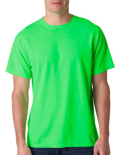 Gildan Tie Dye 61 Men'S Plain Neon Solid Pigment-Dyed Tee T-Shirt Xl Neon Green