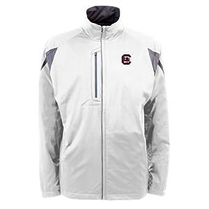 South Carolina Gamecocks NCAA Highland Mens Full Zip Sports Jacket (White) by Antigua