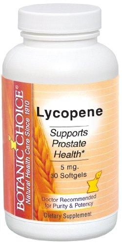 Botanic Choice lycopène Gels mous de 5 mg, 60