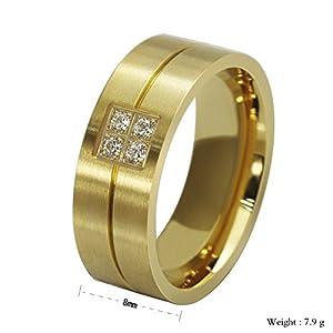 The Men's Ring 18k Gold Titanium Ring Wedding Rings Engagement Rings Wholesale R-060 (9)