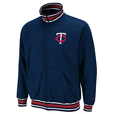 Minnesota Twins Majestic Clutch Hitter Full Zip Track Jacket