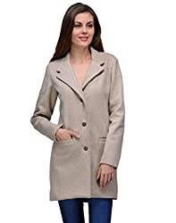 Natty India Beige Wool Blend Women's Western Wear Jacket