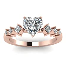 buy 0.70 Ct Heart Shaped Diamond Kite Design Engagement Ring Gold Flawless Gia (K - M Color, If Clarity)