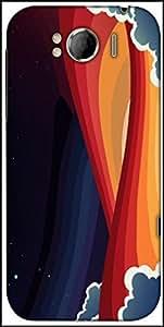 Snoogg Universal Paradigm 2465 Designer Protective Back Case Cover For HTC Sensation Xl