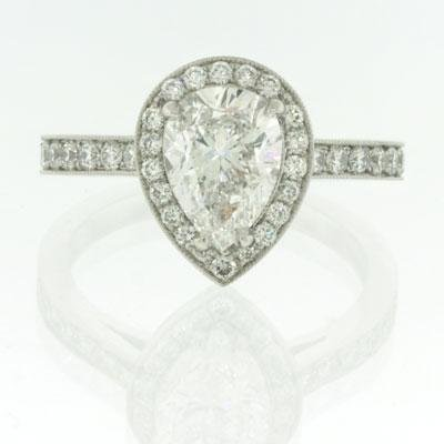 2.37ct Pear Shape Diamond Engagement Anniversary