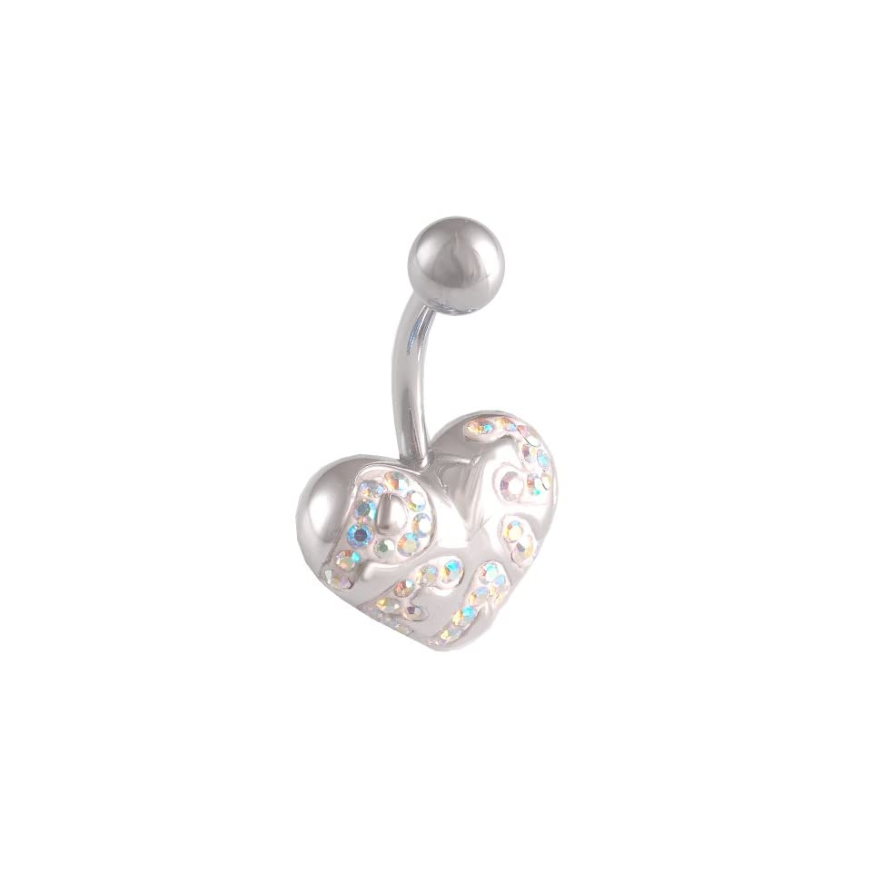 14 Gauge 1.6mm 3/8 10mm cute belly ring navel bar surgical steel unique button AWHY Body Piercing Jewelry
