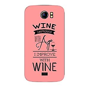 Skin4gadgets Awesome Wine & Dine Quotes, Pattern 6, Color - Dark Cyan Phone Skin for CANVAS 2 PLUS (A110Q)
