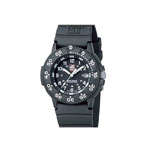 Luminox Men's Original Navy SEAL Dive Watch 3001 Black Rubber Swiss Quartz Watch