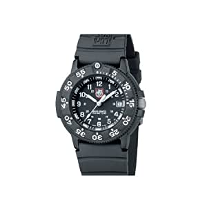 Luminox Men's Original Navy SEAL Dive Watch 3001 Black Rubber Swiss Quartz Watch