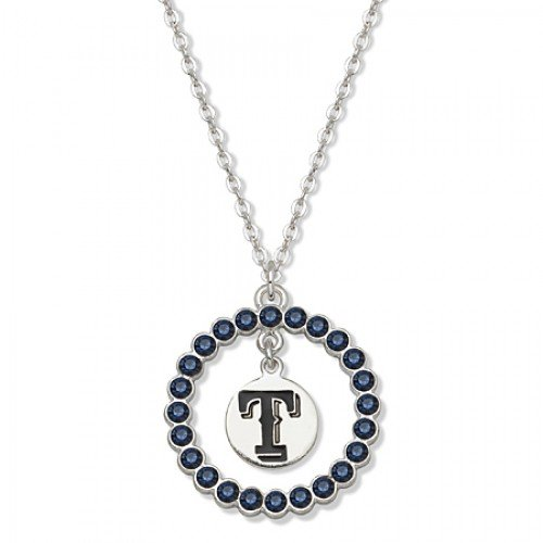 Mlb Texas Rangers Necklace W/ Blue Crystal Wreath at Amazon.com