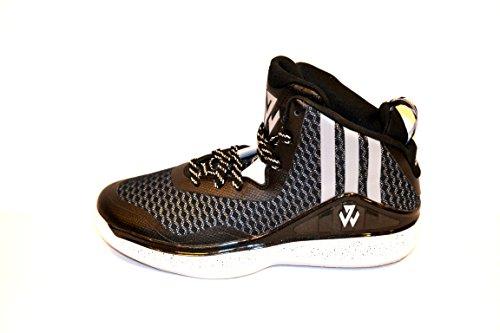 Adidas J Wall 1 (Basketball) (7, Color Core Black (C76587) Black/Grey/White)