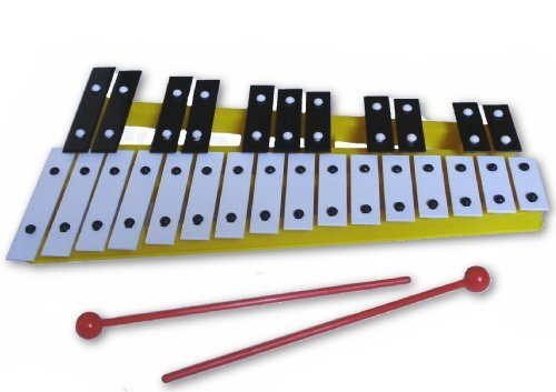 Yellow 27 Key Chromatic Glockenspiel Xylophone