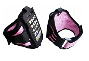 iPhone 4 4S Strong ArmBand Case PINK Cover For SPORTS GYM BIKE CYCLE JOGGING, Tie Phone With Your Arm - by KING OF FLASH