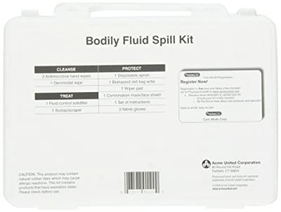 PhysiciansCare Emergency First Aid Personal Protection and Bodily Fluid Spill Kit by PhysiciansCare