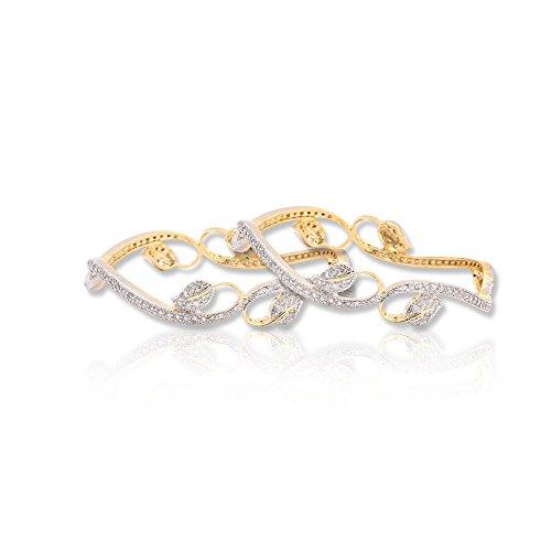 Sheetal Jewellery Silver & Golden Brass & Alloy Bangle Set For Women - B00TIH5Q2I