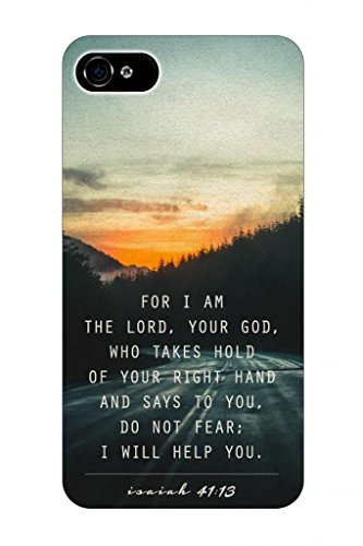 For I Am The Lord,Your God Who Takes Hold Of Your Right Hand And Says To You, Do Not Fear; I Will Help You / Isaiah 41:13 Christian Bible Verses Quotes Theme Pattern Print Protector Cover Sleeve Cases For Apple Iphone 5 5S 5G front-770559