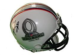 New Orleans Saints Drew Brees Autographed 2012 NFL Pro Bowl Riddell Mini Helmet, Proof Photo