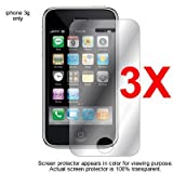 LCD SCREEN PROTECTOR – MIRROR 3 PACK For APPLE IPOD IPHONE 3G 8GB 16GB. Three Screen Guard Protectors / LCD Shield Reviews