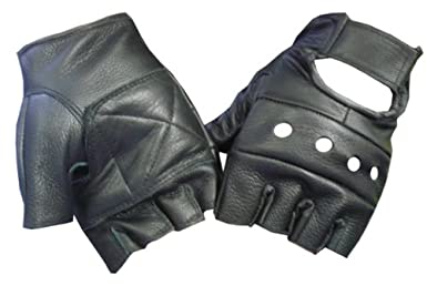 Fingerless Leather Gloves from amazon.com