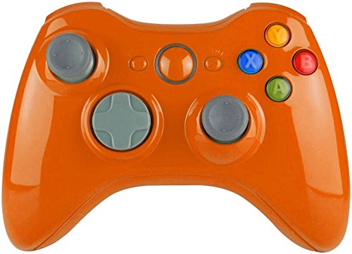 Glossy Orange Xbox 360 Controller Shell Full Housing Mod Kit Repair Parts (Xbox 360 Repair Kit Controller compare prices)