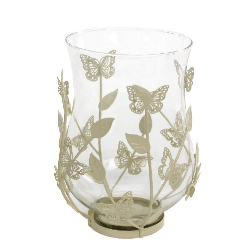 Landon Tyler 23 cm Candle Holder with Butterfly and Rose