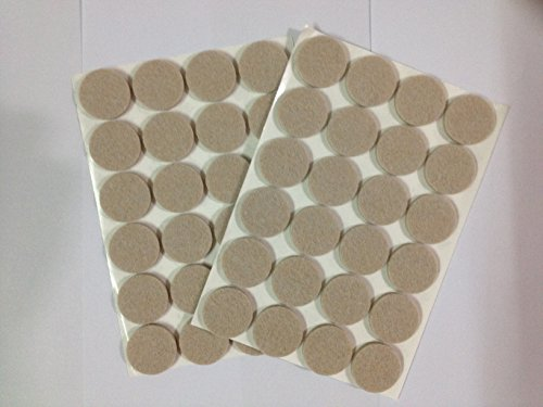 "1"" Diameter Heavy Duty Felt Pads (Furniture & Floor Protector)- 48 Pcs (24 Pcs/Pad) back-5983"