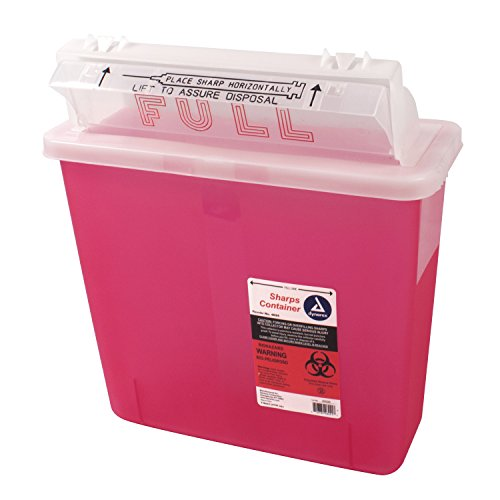 Dynarex D4624 Sharps Container, Mailbox Lid, 5 quart (Pack of 20) (Biohazard Container Mail compare prices)