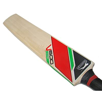 Slazenger V600 Ultra English Willow Cricket Bat, Short Handle