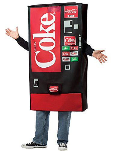 Coke Vending Machine Adult Costume - One-Size