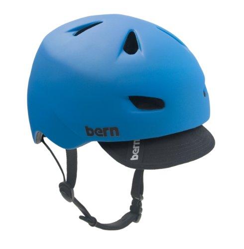 Bern Brentwood Summer Matte Black Bomber Helmet with Visor