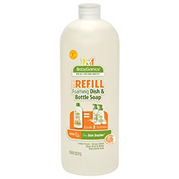 Set A Shopping Price Drop Alert For Babyganics Foaming Dish Soap Refill, Citrus, 33.8 Fluid Ounce