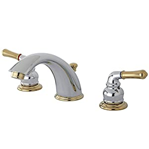 Kingston Brass Kb964 Magellan Ii Widespread Lavatory Faucet 8 Inch To 16 Inch Centers 7 Inch